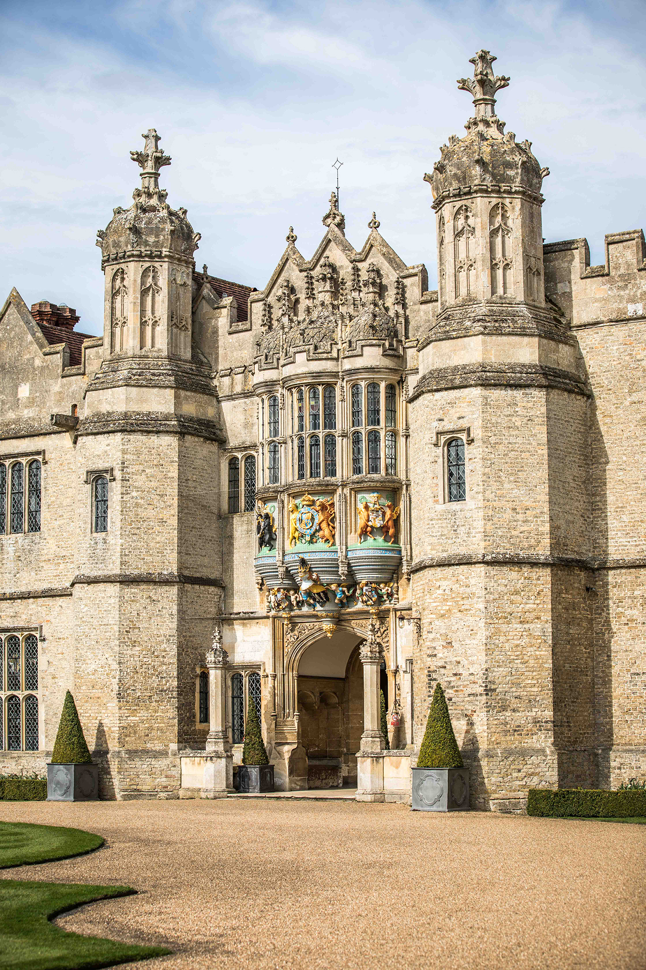 Main entrance to Hengrave hall Weddings and Events Venue