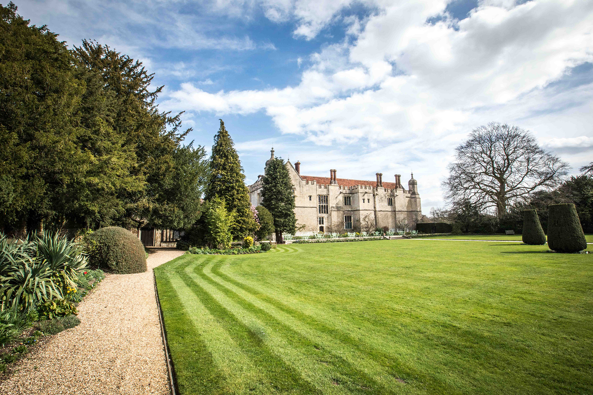 Grounds at Hengrave Hall Wedding Venue in early Spring
