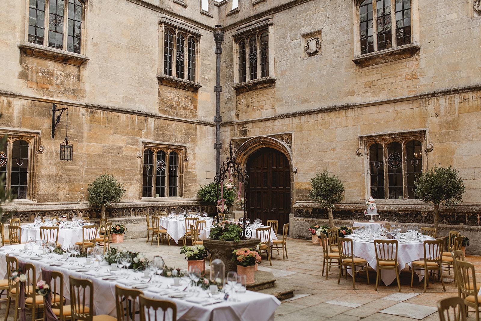 Outdoor Wedding Breakfast at Hengrave Hall
