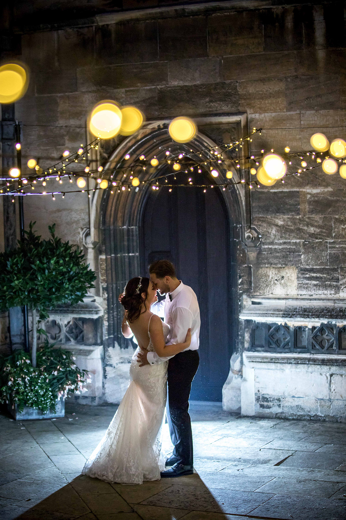Married Couple enjoying Evening Celebrations at Hengrave Hall